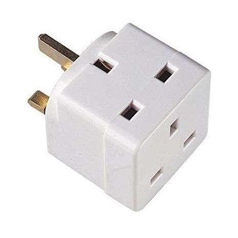 3 Way Fused Plug Adapter