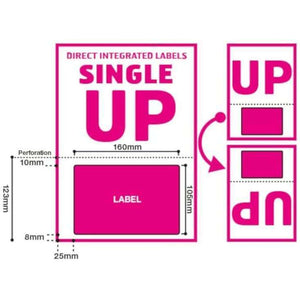 Priory Direct A4 Single Integrated Label - Royal Mail Click and Drop Labels - Label Size 160mm x 105mm, Style UP - with Perforation - 1,000 Sheets
