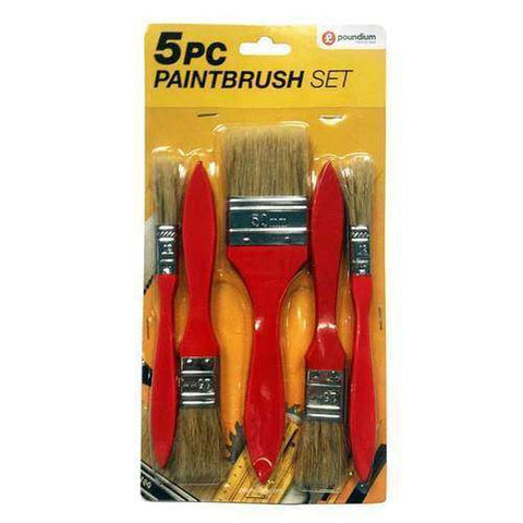 5pc Disposable Paintbrush Set