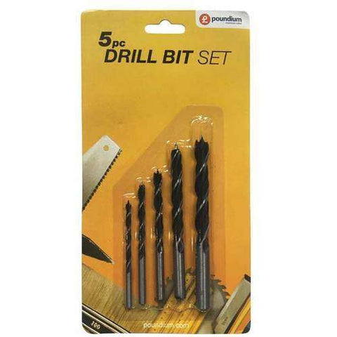5pc Wood Drill Bit Set
