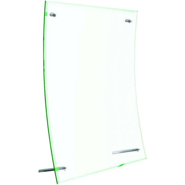 Deflecto Sign or Menu Display Holder Bevelled Edge Acrylic 216x279mm Curved Clear Ref DE799783