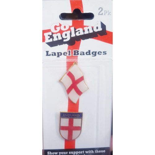 England Lapel Badges 2 Pack