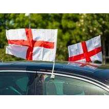 England Car Flags (2 Pack)