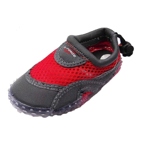 Gul G-Force Childrens Red and Black Aqua Beach Shoes