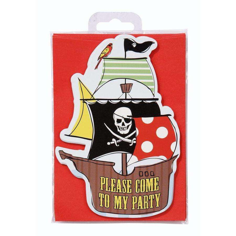 Pirate Party Invite Postcards (8 Pack)