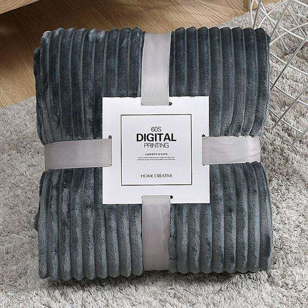 Striped Throw Fleece Blanket