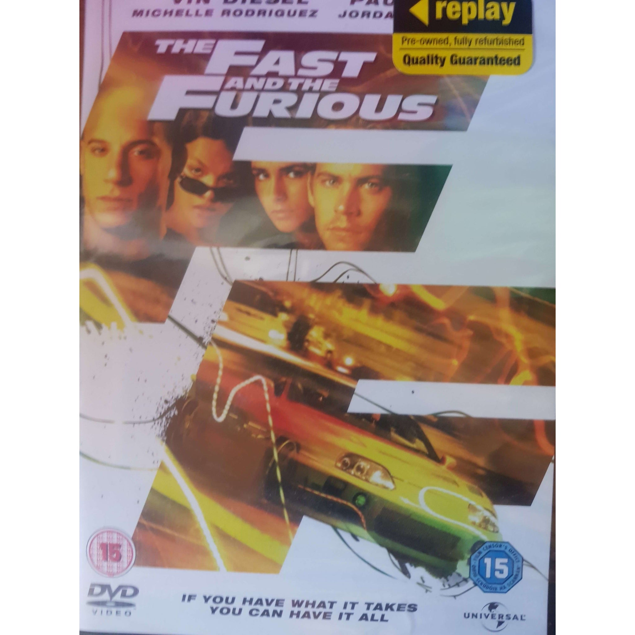 The Fast And The Furious DVD (PREOWNED) (15)