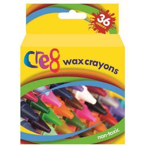 Wax Crayons (36 Colours)