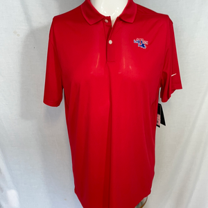 Men's Red Victory Solid Polo