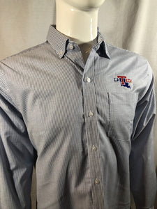"Mens LA Tech ""Oxford Stripe"" Long Sleeve Button Up"