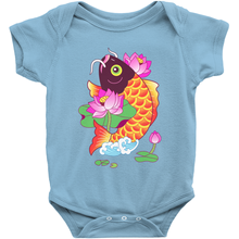 Fish and Lotus Baby Onesie By Dingding Hu