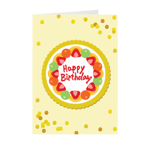 Mixed Fruit Cake Birthday Cards By Lillian Lee (Set of 10)