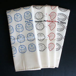 "Egg Tarts Dim Sum Tea Towel (18"" x 30"")"