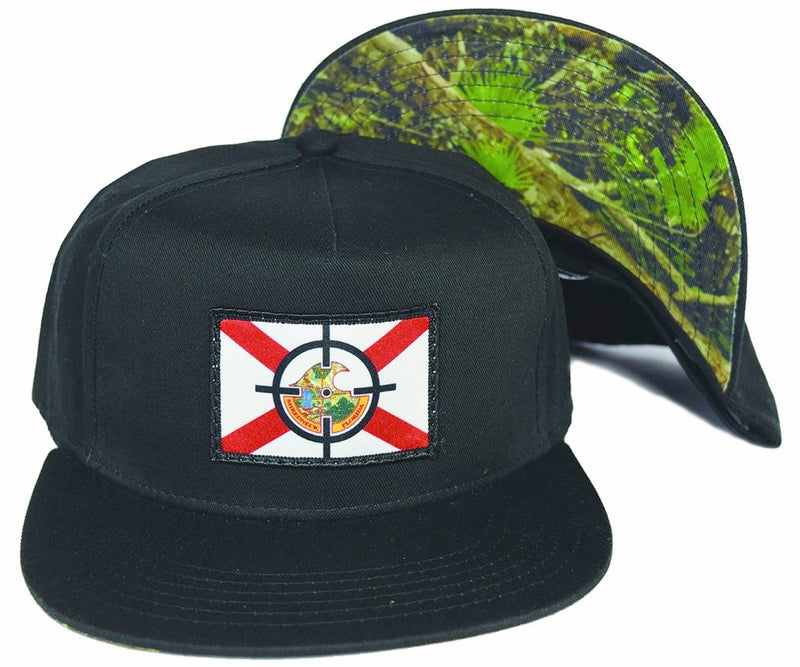 FL Cracker Bushman Snapback - Black
