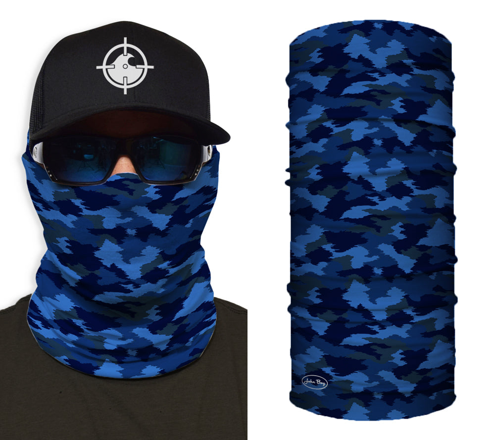 Blue Camo Shredneck