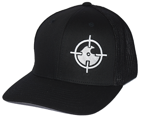 Black Fitted Mesh - Offset Logo