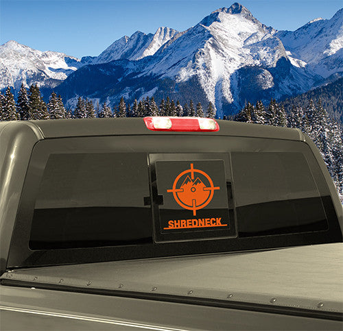 SHREDNECK Mountain Decal - 12 inch (Orange)
