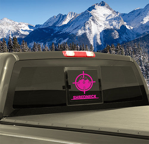 SHREDNECK Mountain Decals - 12 Inch (Pink)
