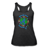 """United We Stand"" Women's Racerback Tank - heather black"