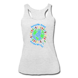 """United We Stand"" Women's Racerback Tank - heather white"