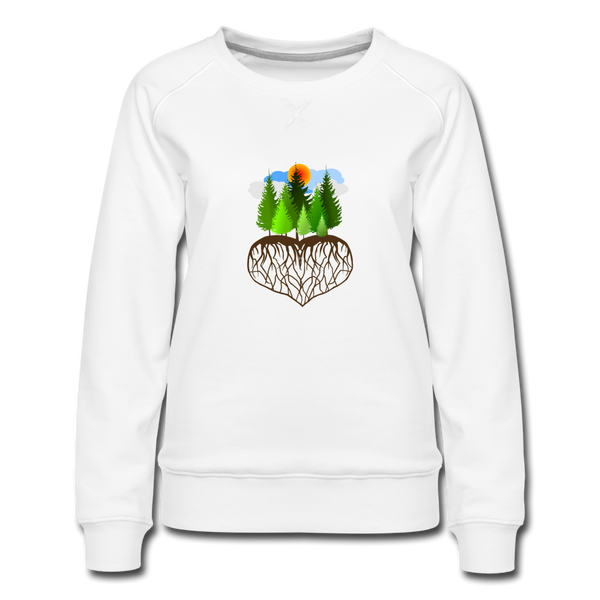 """Tree Love"" Women's Premium Sweatshirt - white"