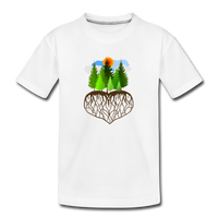 """Tree Love"" Kids' Premium T-Shirt - white"
