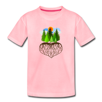 """Tree Love"" Kids' Premium T-Shirt - pink"