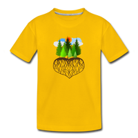 """Tree Love"" Kids' Premium T-Shirt - sun yellow"