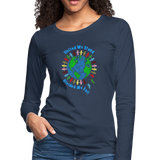 """United We Stand"" Women's Premium Long Sleeve T-Shirt - navy"