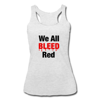 """We All Beeld Red"" Women's Racerback Tank - heather white"