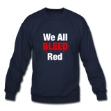 """We All Bleed Red"" Men's Crewneck Sweatshirt - navy"