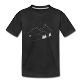 """Reach For The Stars"" Kid's Premium Organic T-Shirt - black"