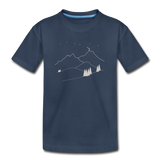 """Reach For The Stars"" Kid's Premium Organic T-Shirt - navy"