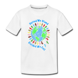 """United We Stand"" Kid's Premium Organic T-Shirt - white"