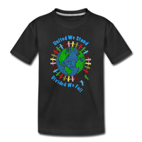 """United We Stand"" Kid's Premium Organic T-Shirt - black"