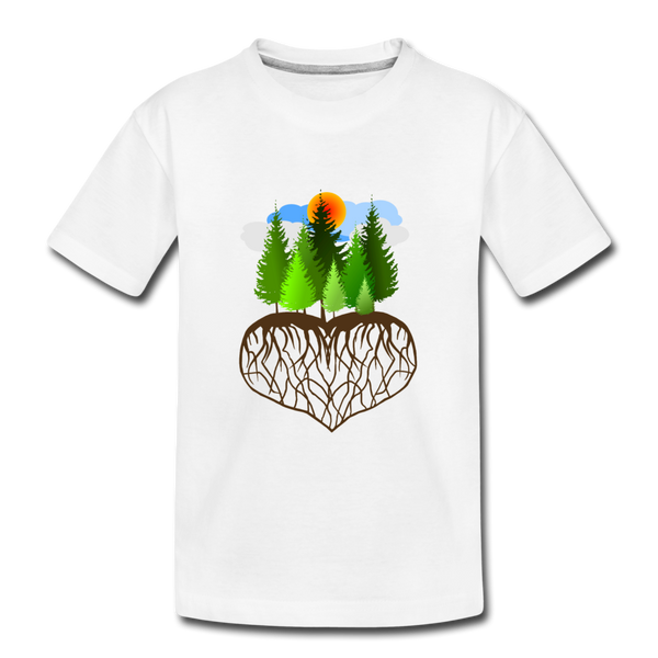 """Tree Love"" Kid's Premium Organic T-Shirt - white"