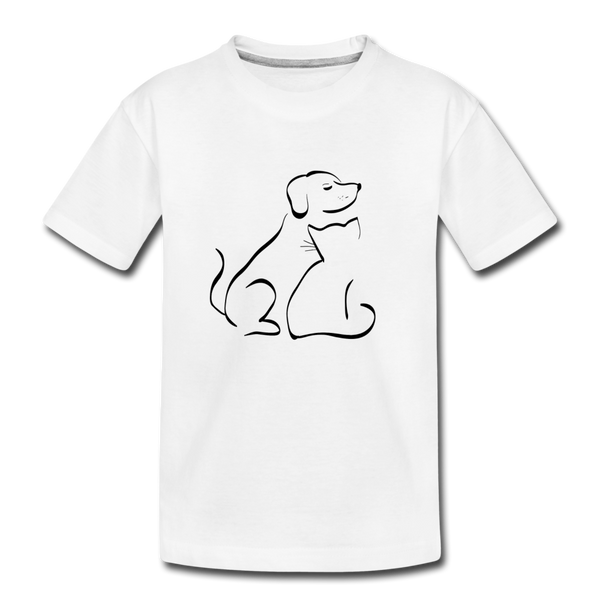 """Pet Lover"" Kid's Premium Organic T-Shirt - white"