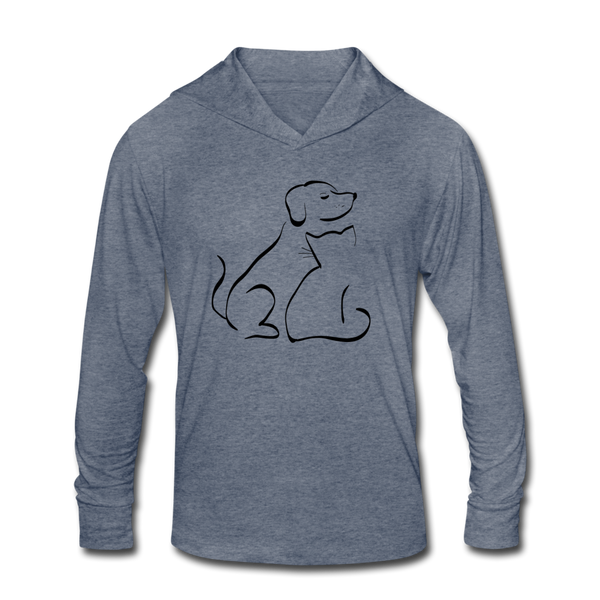"""Pet Friendly"" Hoodie Shirt - heather blue"