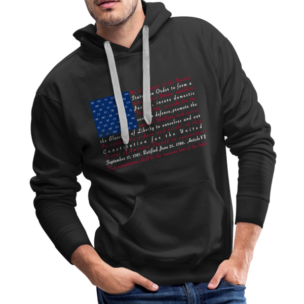 """Constitution Flag"" Men's Premium Hoodie - black"
