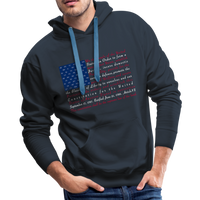 """Constitution Flag"" Men's Premium Hoodie - navy"