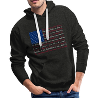 """Constitution Flag"" Men's Premium Hoodie - charcoal gray"