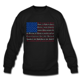 """Constitution Flag"" Men's Crewneck Sweatshirt - black"
