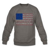 """Constitution Flag"" Men's Crewneck Sweatshirt - asphalt gray"