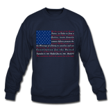 """Constitution Flag"" Men's Crewneck Sweatshirt - navy"