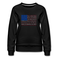 """Constitution Flag"" Women's Premium Sweatshirt - black"