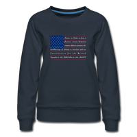 """Constitution Flag"" Women's Premium Sweatshirt - navy"