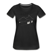 """Reach For The Stars"" Women's Premium Organic T-Shirt - black"