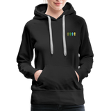 """United We Stand"" Women's Premium Hoodie (Front & Back) - black"