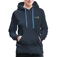 """United We Stand"" Women's Premium Hoodie (Front & Back) - navy"