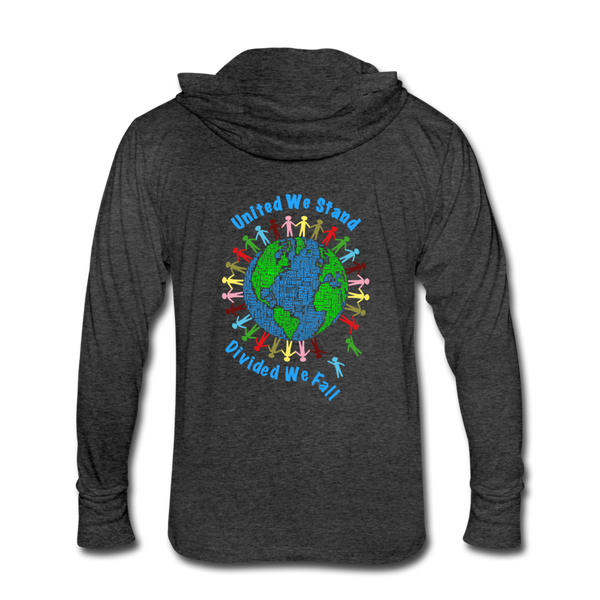 """United We Stand"" Men's Hoodie Shirt (Front & Back) - heather black"